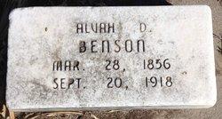 Alvah D. Benson