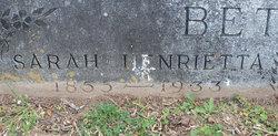 Sarah Henrietta Sally <i>Stewart</i> Bethel
