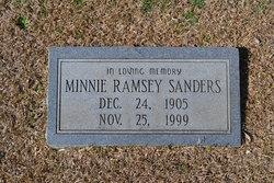 Minnie Lee <i>Jeffries</i> Sanders
