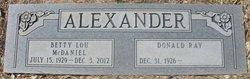 Betty Lou <i>McDaniel</i> Alexander
