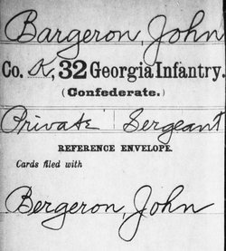 Pvt John Uncle John Bargeron