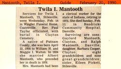 Twila I <i>Walton</i> Mantooth