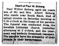 Paul W Boberg