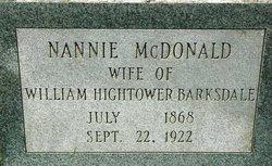 Nannie Graves <i>McDonald</i> Barksdale