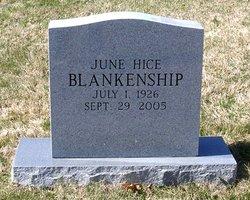 June <i>Hice</i> Blankenship
