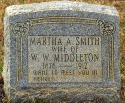 MARTHA A <i>SMITH</i> MIDDLETON