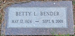 Betty Louise <i>Carter</i> Bender