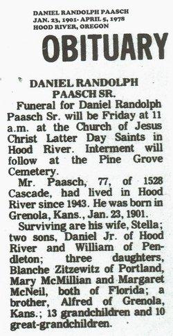 Daniel Randolph Paasch, Sr