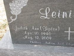 Judith Ann <i>Tipton</i> Leininger