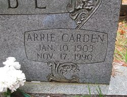 Arrie <i>Carden</i> Cabe