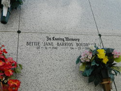 Bettie Jane <i>Barrios</i> Boudreaux