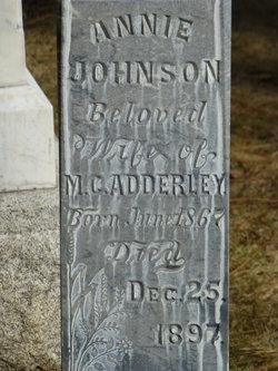 Anna Annie <i>Johnson</i> Adderley