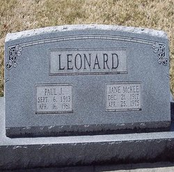 Jane <i>McKee</i> Leonard