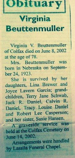 Virginia Viretta <i>Bales</i> Beuttenmuller
