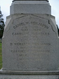 Caroline H. <i>Sholes</i> Benjamin