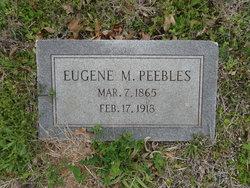 Eugene Marion Peebles