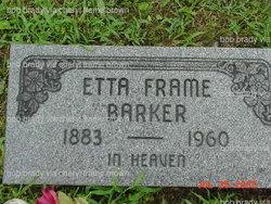 Etta Ruth <i>Frame</i> Barker