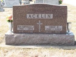 Rev Orville J. Acklin