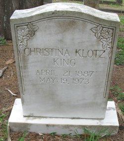 Christina M <i>Klotz</i> King