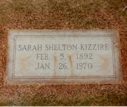 Sarah Clementine <i>Shelton</i> Kizzire