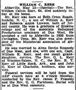 Rev William Calvin Kerr