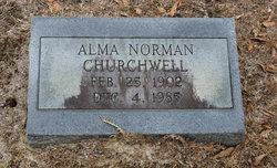Alma <i>Norman</i> Churchwell