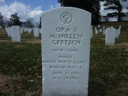 Ora J <i>McMillen</i> Gertsch