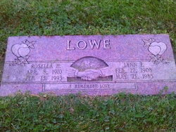 Rosella Jessie <i>Hancey</i> Lowe