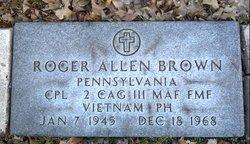 Corp Roger Allen Brown
