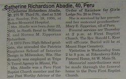 Catherine <i>Richardson</i> Abadie