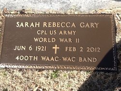 Sarah Rebecca Becca Gary