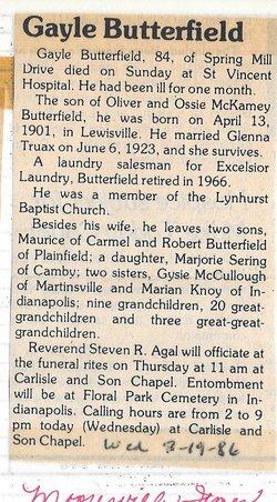 Arthur Gayle Butterfield