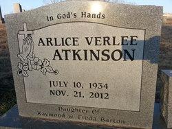 Arlice Verlee <i>Barton</i> Atkinson