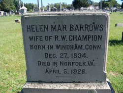 Helen Mar <i>Barrows</i> Champion