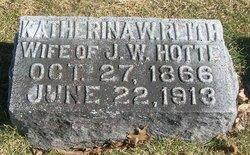 Katherina W. <i>Rieth</i> Hotte