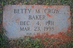 Betty M. <i>Crow</i> Baker