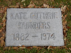 Kate Isabell <i>Guthrie</i> Saunders
