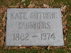 Kate Isabell <i>Guthrie</i> Saunders