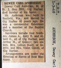 Dewey Carl Anderson