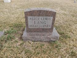 Alice Lewis Lang