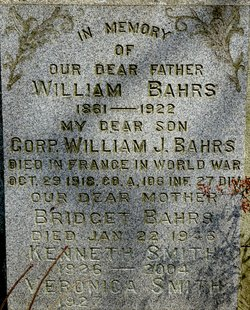 Corp William J. Bahrs