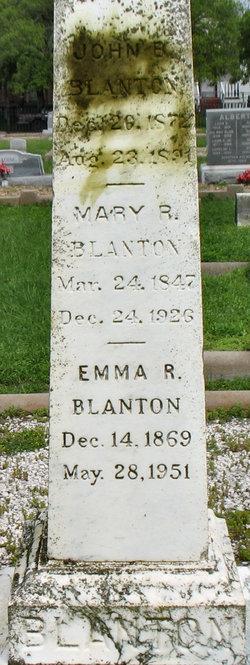 Emma R Blanton