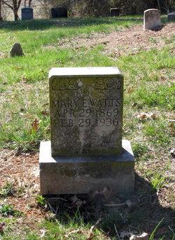 Mary Elizabeth <i>Amos</i> Watts