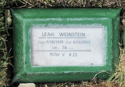 Leah <i>Buckman</i> Weinstein