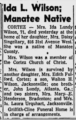 Ida Day <i>Lundy</i> Wilson