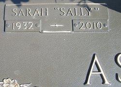 Sarah Sally <i>Burkett</i> Ashley