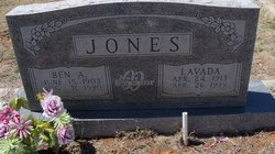Bertha Lavada Lavada <i>Wooten</i> Jones