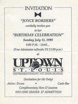 Joyce Marie Borders