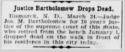 Judge Joseph Milton Bartholomew