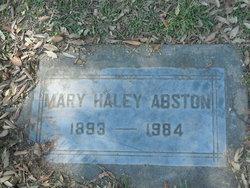 Mary Minnie <i>Rollins</i> Haley-Abston